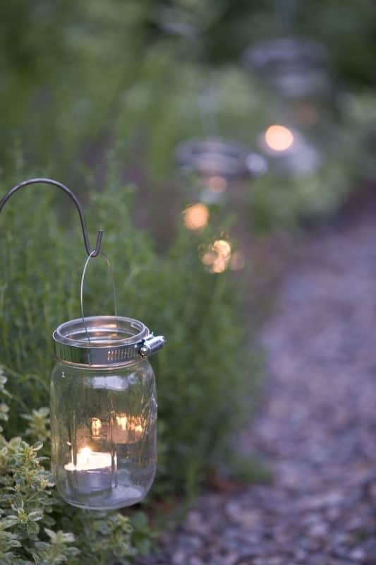 Garden Lights from Glass and Candles - outdoor-lighting