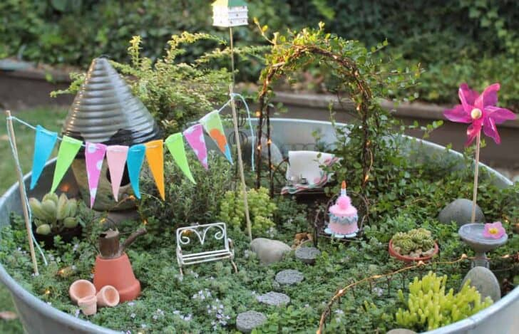 Mini Garden Party Garden Decor