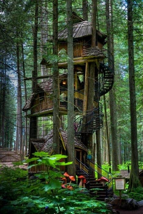 Three Story Tree House - sheds-huts-treehouses
