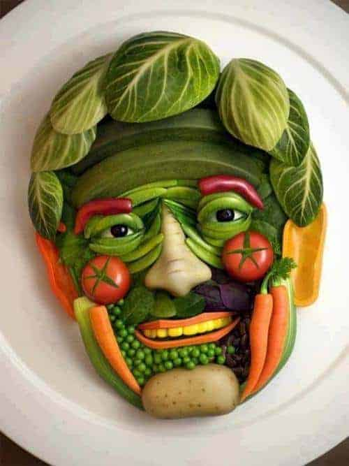 Gardening Face - garden-decor