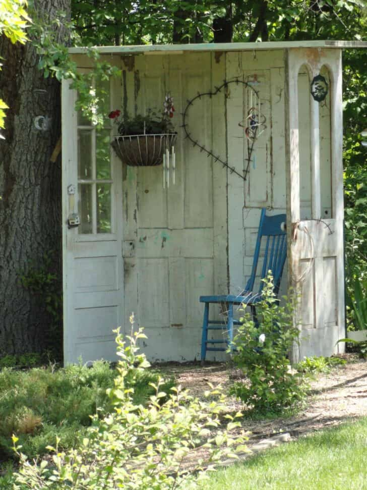 Garden Shed Made of Old Doors 12 - Sheds & Outdoor Storage