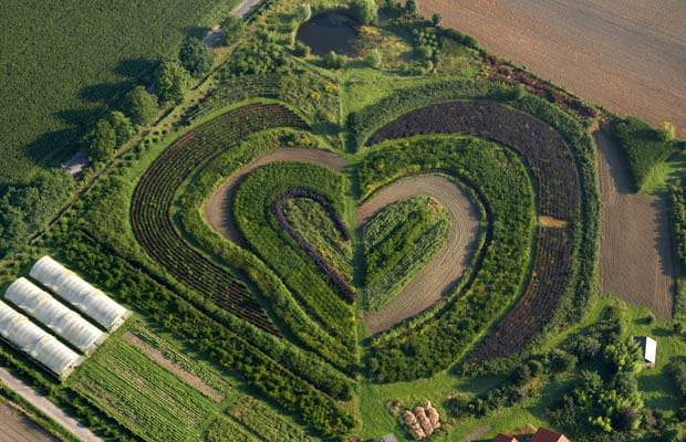 Hearts in Nature Landscape : Heart-shaped Garden in Waltrop, Germany Landscapes
