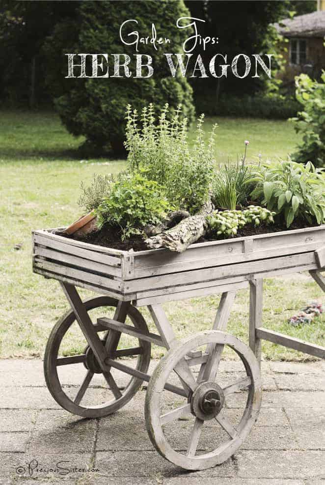 Herb Wagon 1 - Flowers & Plants - 1001 Gardens