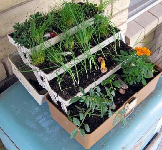 Fishing Tackle Box Upcycled Into Original Planter - flowers-plants-planters