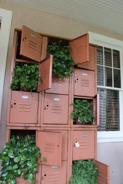 vintage lockers planter