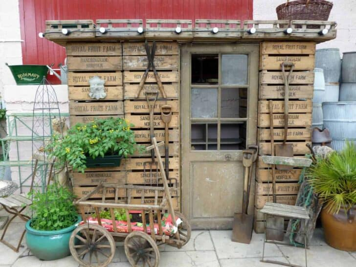 Vintage English Potting Shed - sheds-huts-treehouses, flowers-plants-planters
