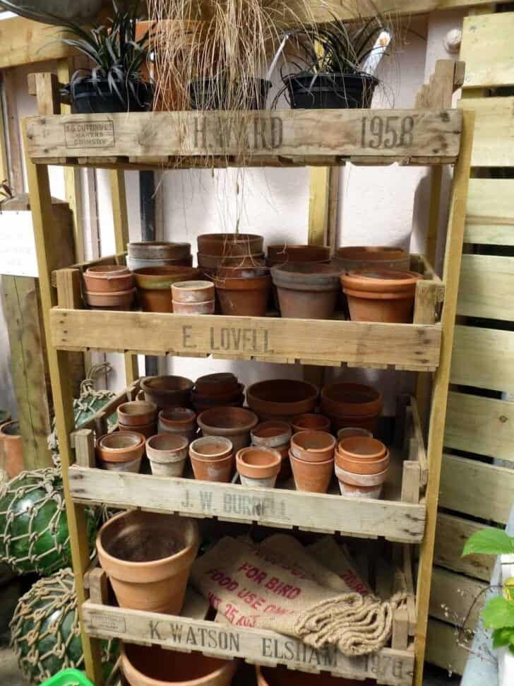 Vintage English Potting Shed Flowers, Plants & Planters Sheds, Huts & Tree Houses
