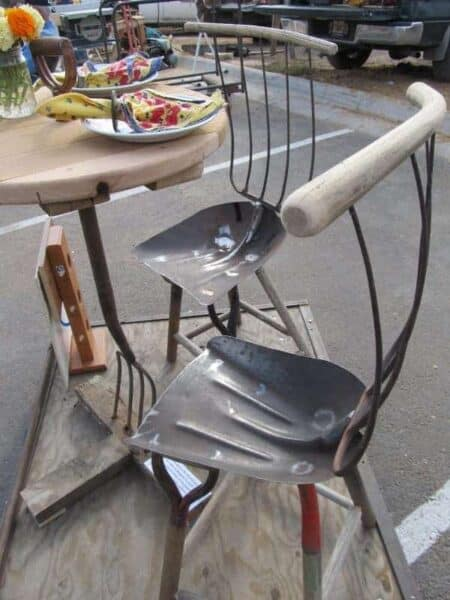Chairs and Table from Old Tools 18 - Patio & Outdoor Furniture