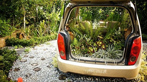 Creative Garden Landscape Car Flowers, Plants & Planters