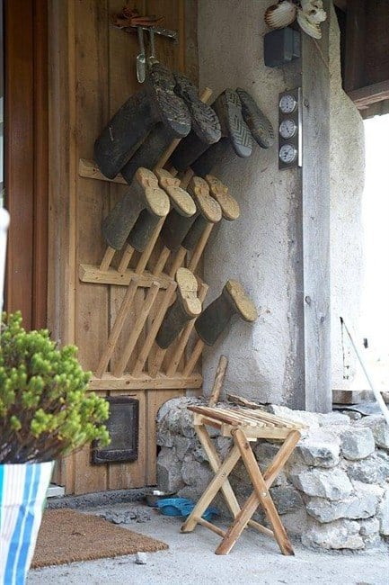 Homemade Welly Stand Patio & Outdoor Furniture