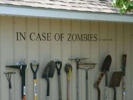 Garden Tools Rack, in Case of Zombies ! 1 - Garden Tools - 1001 Gardens