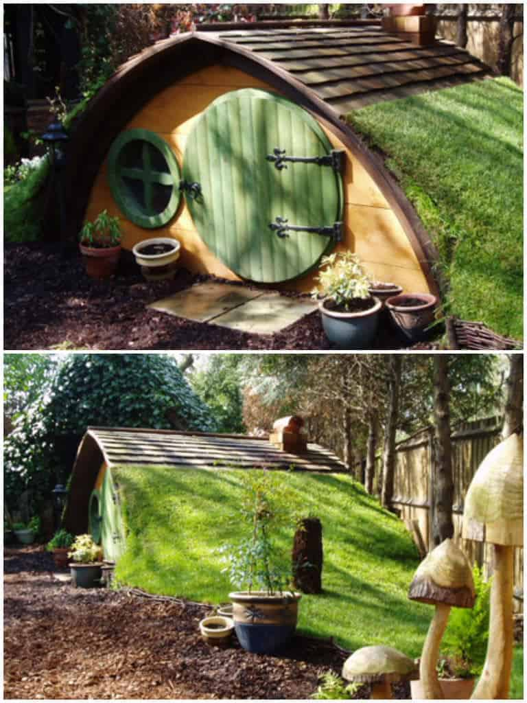 Hobbit House Furniture Of Cute Hobbit House Kit In Garden 1001 Gardens