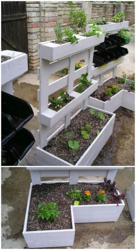 Pallet Herbs Planters 10 - Pallets Projects & Furniture