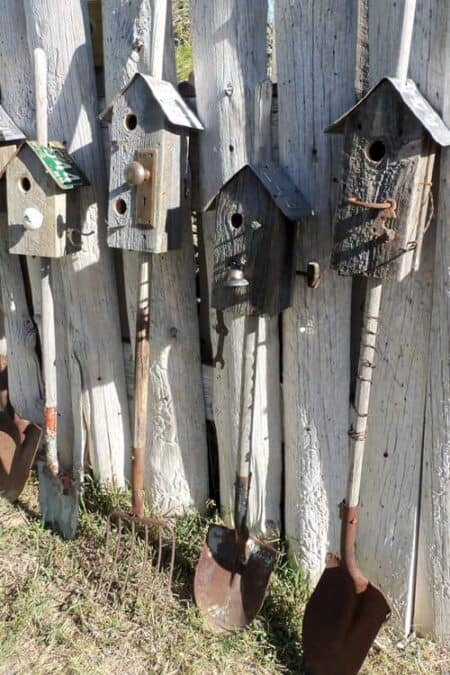 Old Tools = Vintage Birhouses 30 - Bird Feeders & Houses