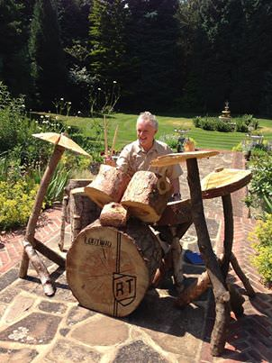 Drum Set out of Wood - patio-outdoor-furniture