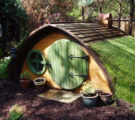 Cute Hobbit House Kit in Garden Landscapes Sheds, Huts & Tree Houses