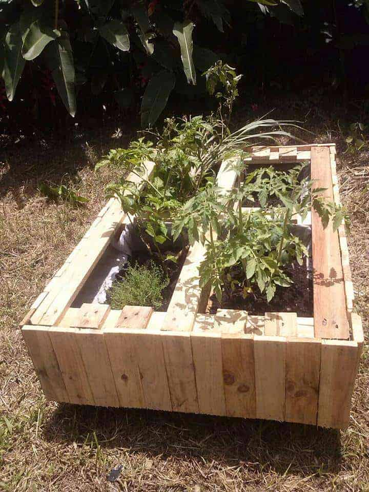 Pallet Planter - garden-pallet-projects-ideas, flowers-plants-planters