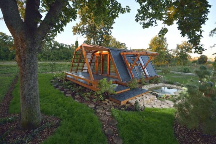 Small Zero Energy House Landscapes Sheds, Huts & Tree Houses