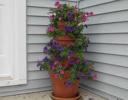 Diy: A Terra Cotta Pot Flower Tower 3 - Flowers & Plants