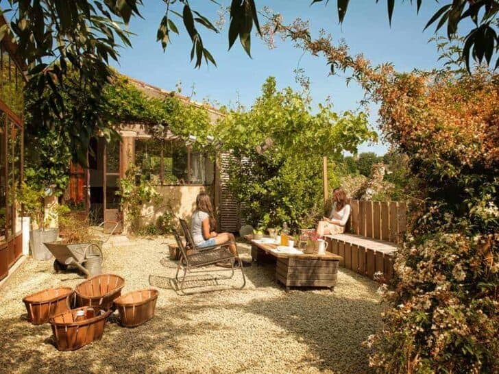 Bed and Breakfast Wood Patio in France Patio & Outdoor Furniture