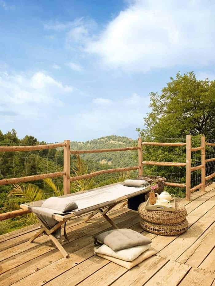 Bed and Breakfast Wood Patio in France - patio-outdoor-furniture
