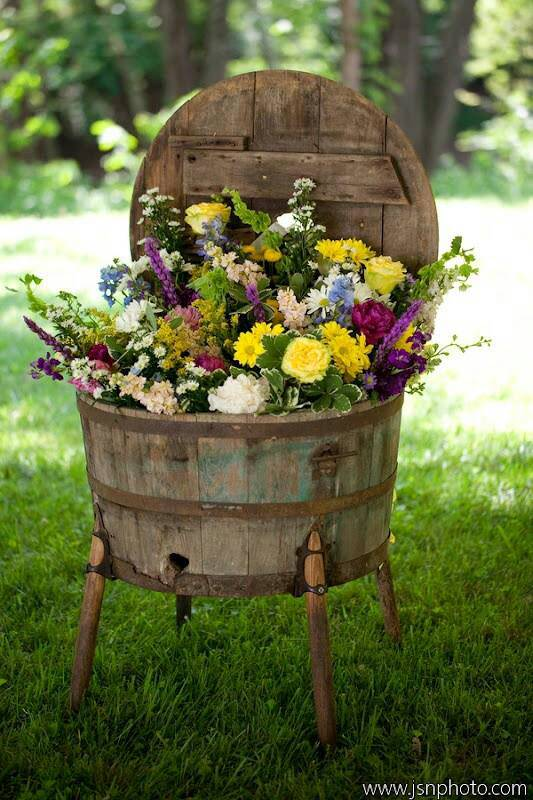 Barrel of Flowers - flowers-plants-planters