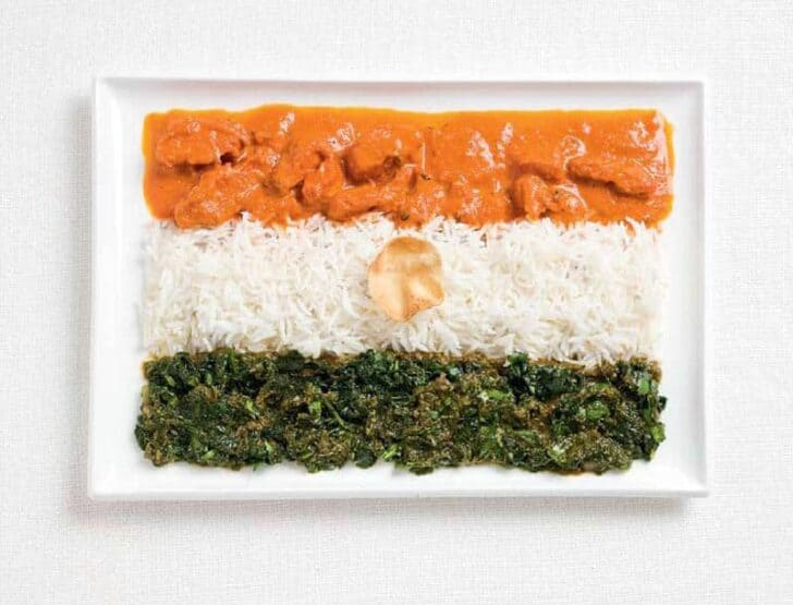 india-flag-made-from-food