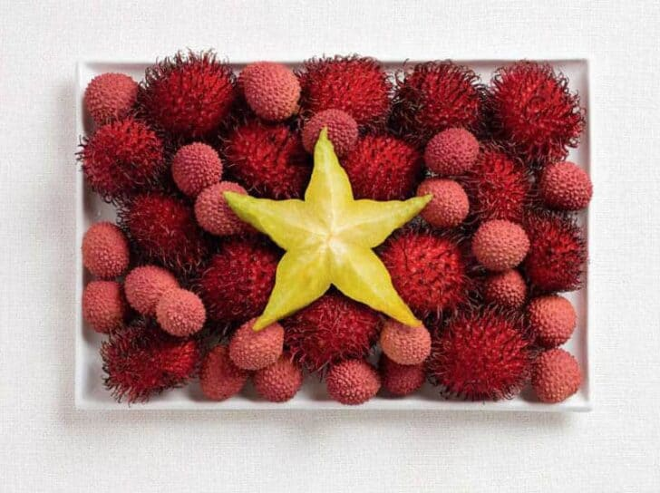 vietnam-flag-made-from-food
