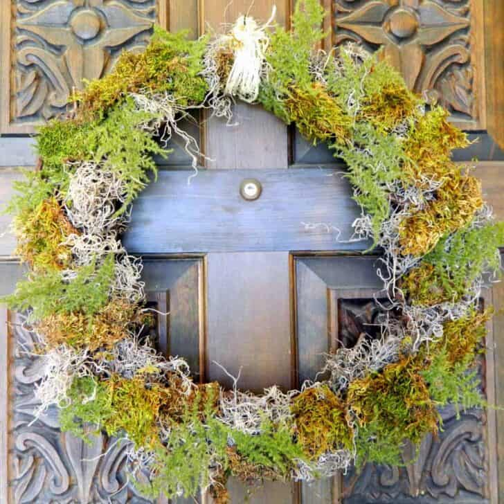 DIY Moss Wreath 5