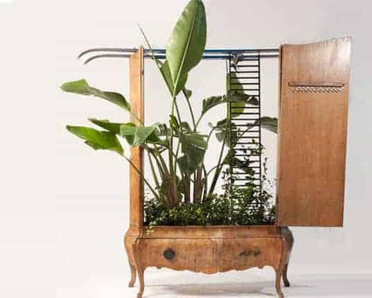Furnitures Recycled into Beautiful Planters by Peter Bottazzi Flowers, Plants & Planters