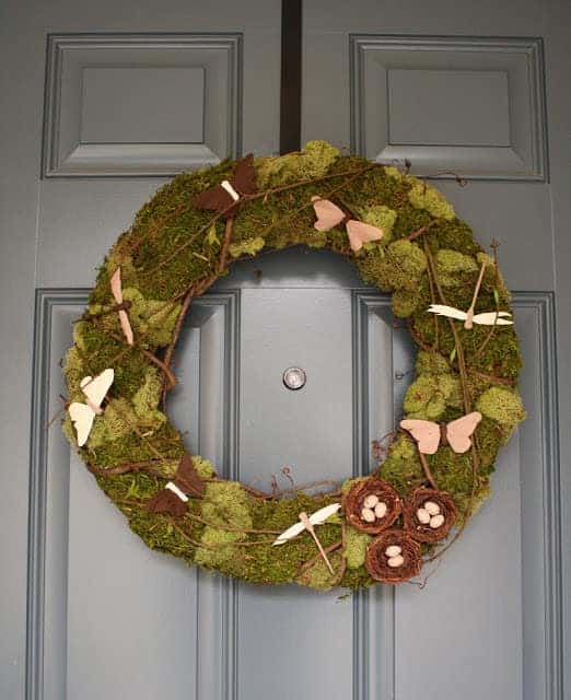 Diy: Christmas Natural Moss Wreath - garden-decor