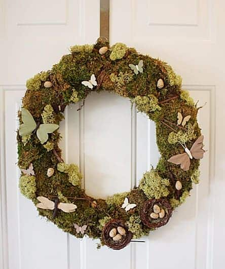 Diy: Christmas Natural Moss Wreath Garden Decor