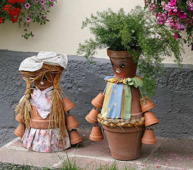 Diy: 5 Clay Pot People with Flowers Ideas Garden Decor