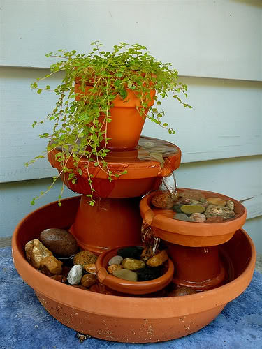 Mini Water Fountain - flowers-plants-planters