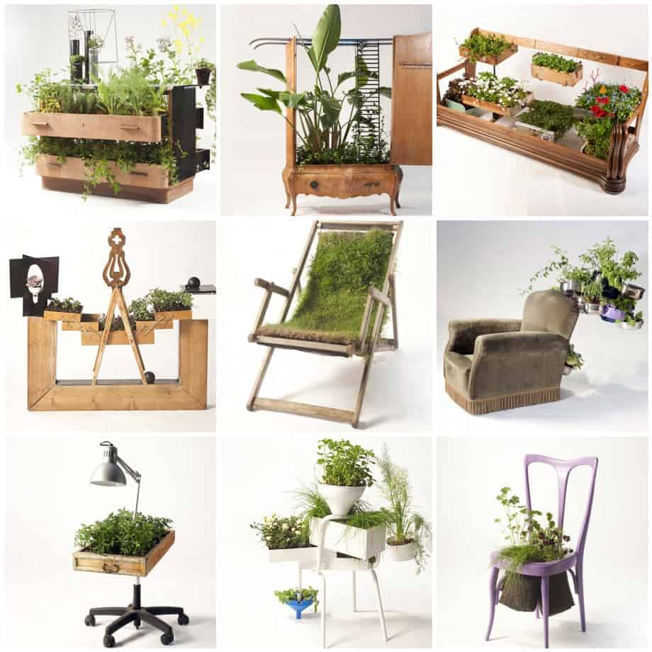 Furnitures Recycled Into Beautiful Planters By Peter
