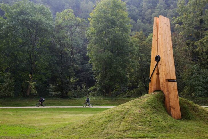 Giant Clothespin to Pinch the Earth Landscape - landscaping