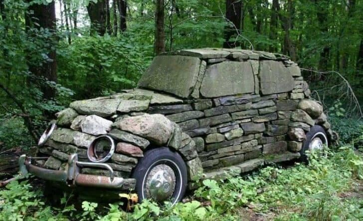 Vw Rocks Beetle - garden-decor