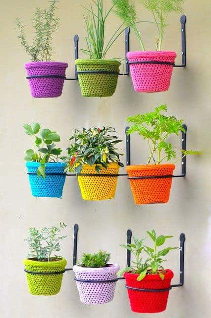 Crochet in Garden - flowers-plants-planters