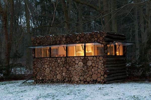 Log House in the Wood Sheds, Huts & Tree Houses