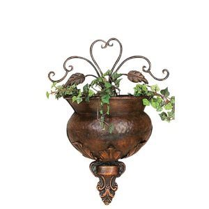 Antiques-Copper-Finished-Flral-Wall-Planter-Art-12-0
