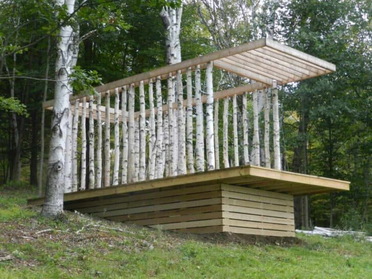 The Birch Pavilion Sheds, Huts & Tree Houses