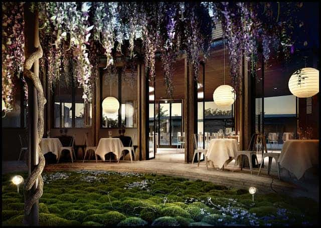 Wisteria Flowered Patio - outdoor-lighting