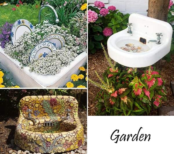 Sinks in the Garden - garden-decor