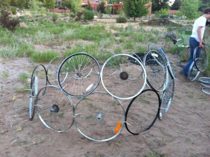 Bicycle Rim Vertical Gardening Dome Flowers, Plants & Planters