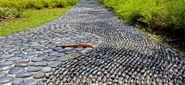 Black Stones Path - garden-decor