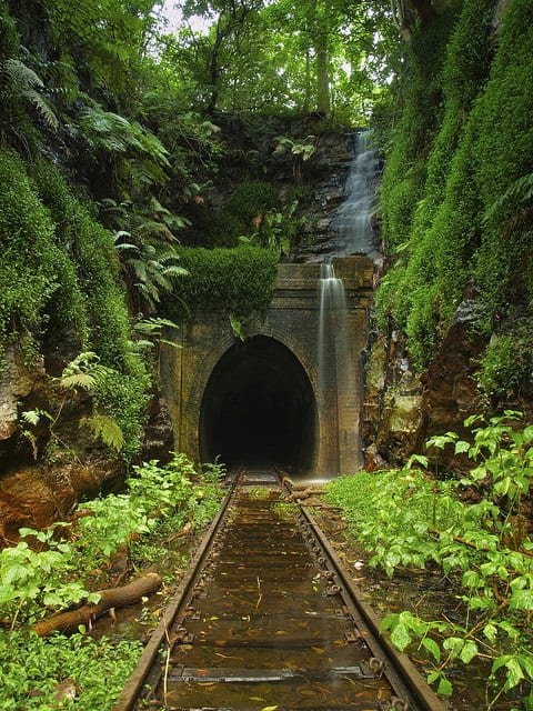 Helensburgh Abandoned Train Tunnel Landscape in Australia - landscaping