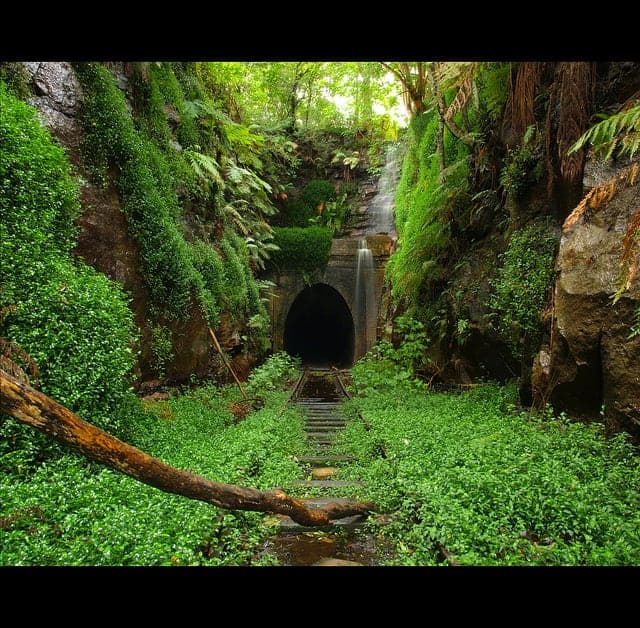 Helensburgh Abandoned Train Tunnel Landscape In Australia