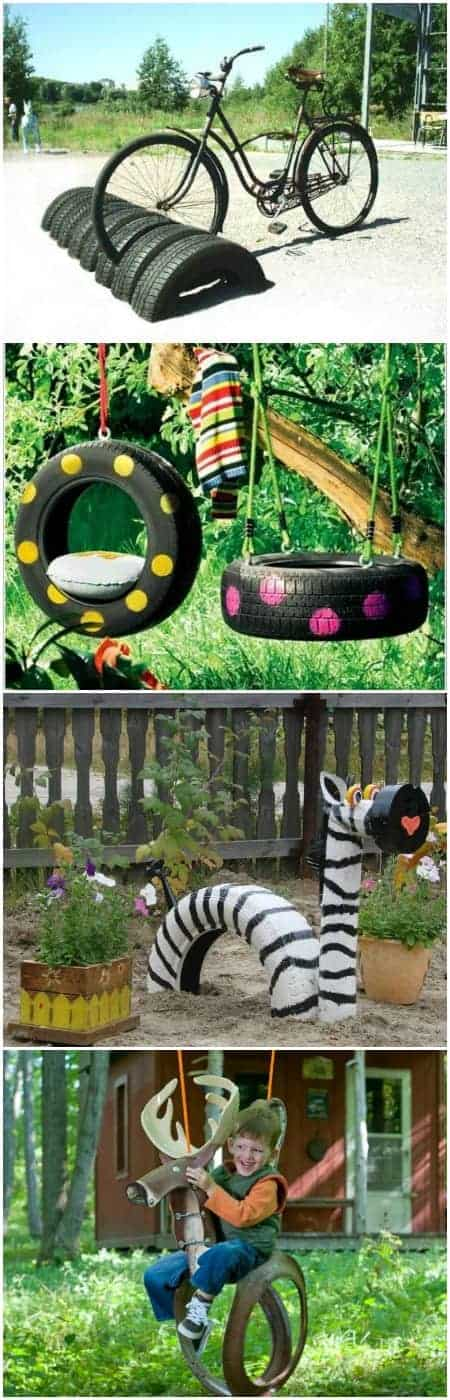 10 diy tire decoration ideas for your garden 1001 gardens for Recycling ideas for your garden