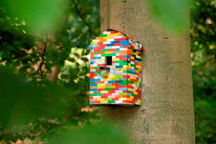 Lego Birdhouse - feeders-birdhouses