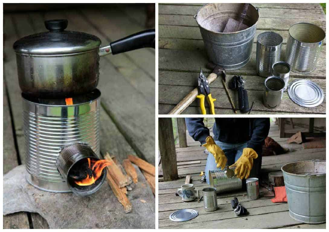 Diy Tin Can Portable Rocket Stove 1001 Gardens